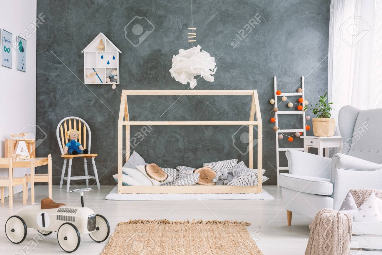 Kinderzimmer Wand Stock Photo