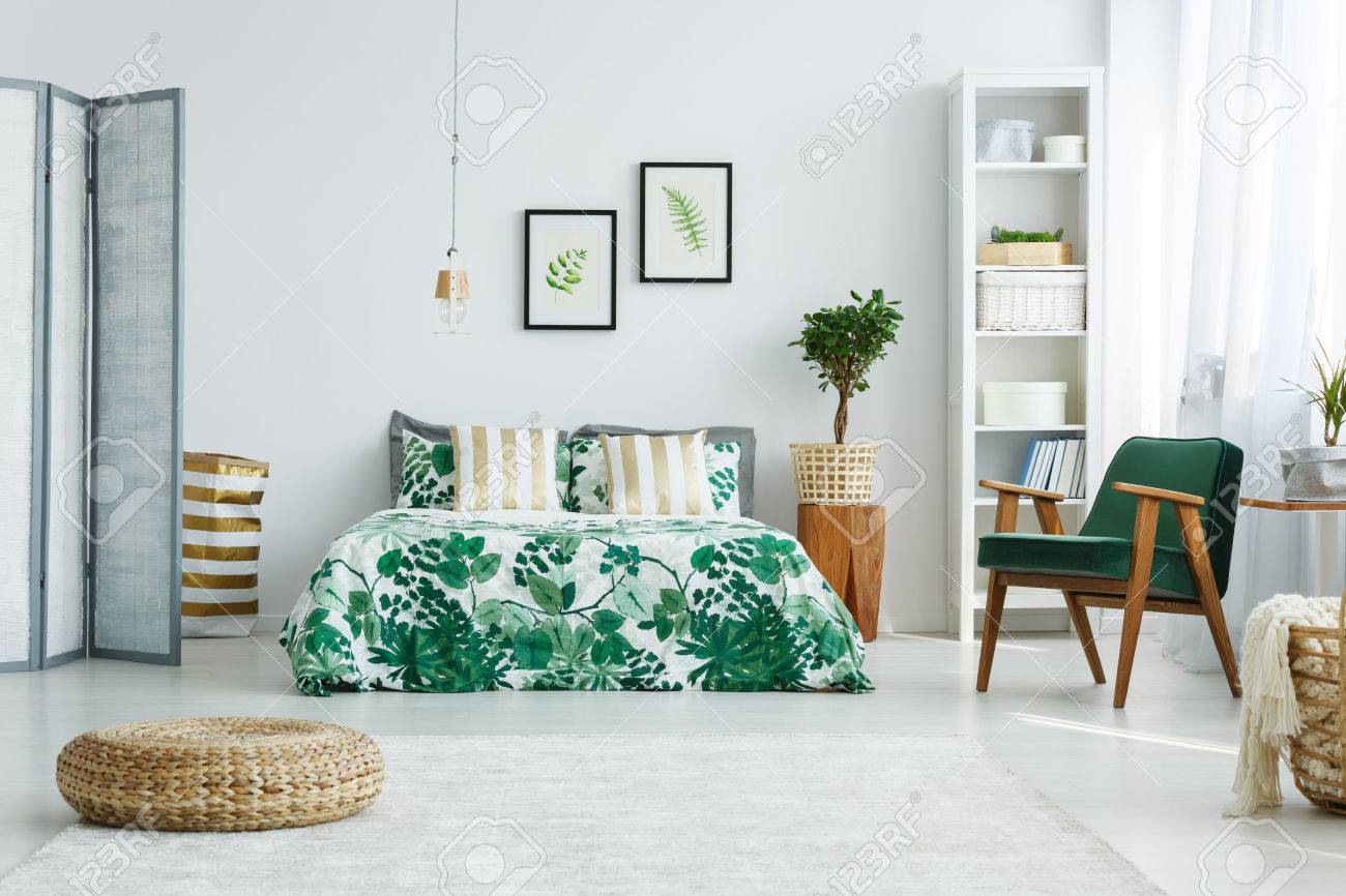 Sessel Für Schlafzimmer Stock Photo
