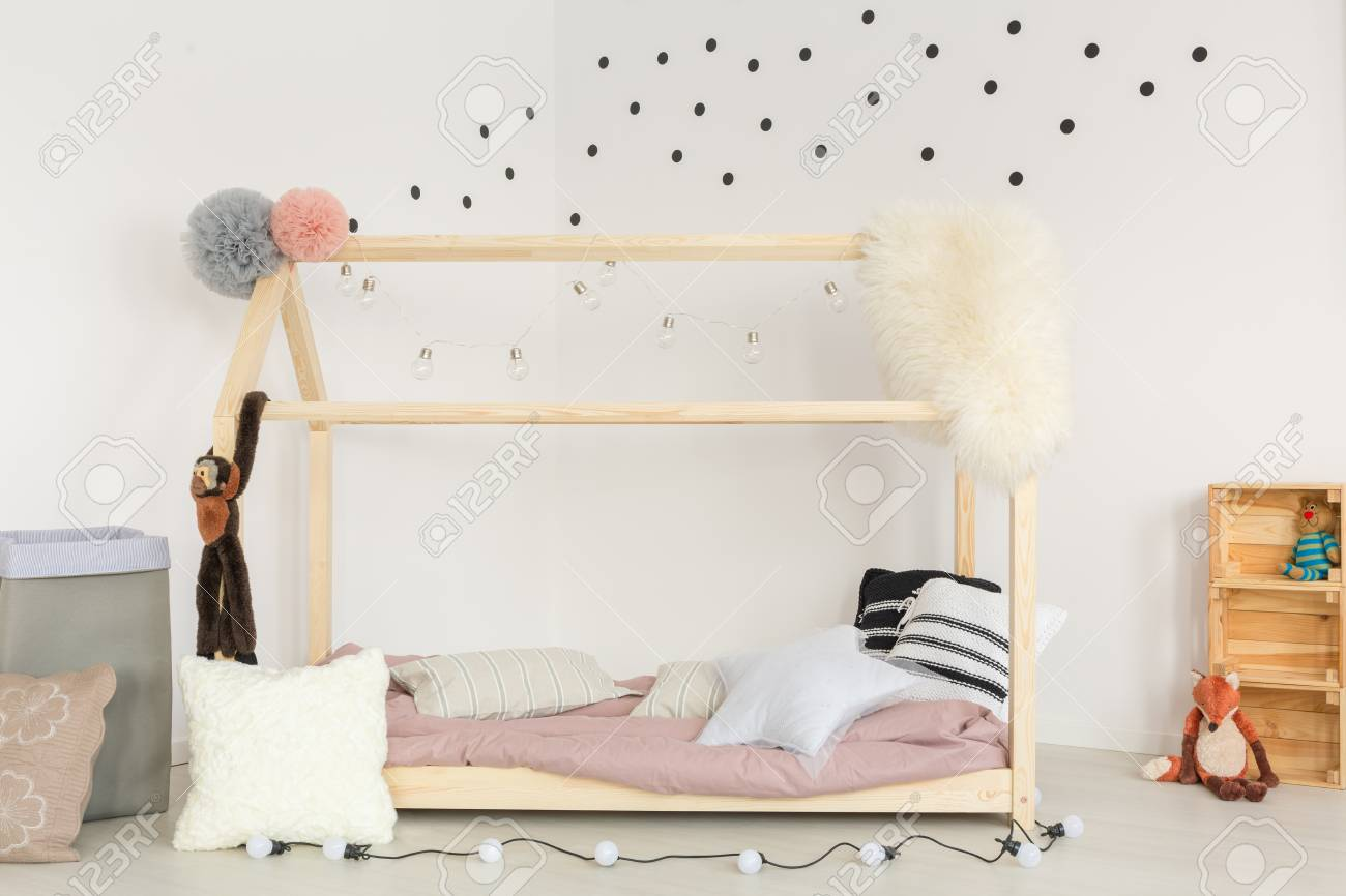 Babies Room Accessories Scandi Design Of Baby Room With Wooden Bed And Soft Accessories