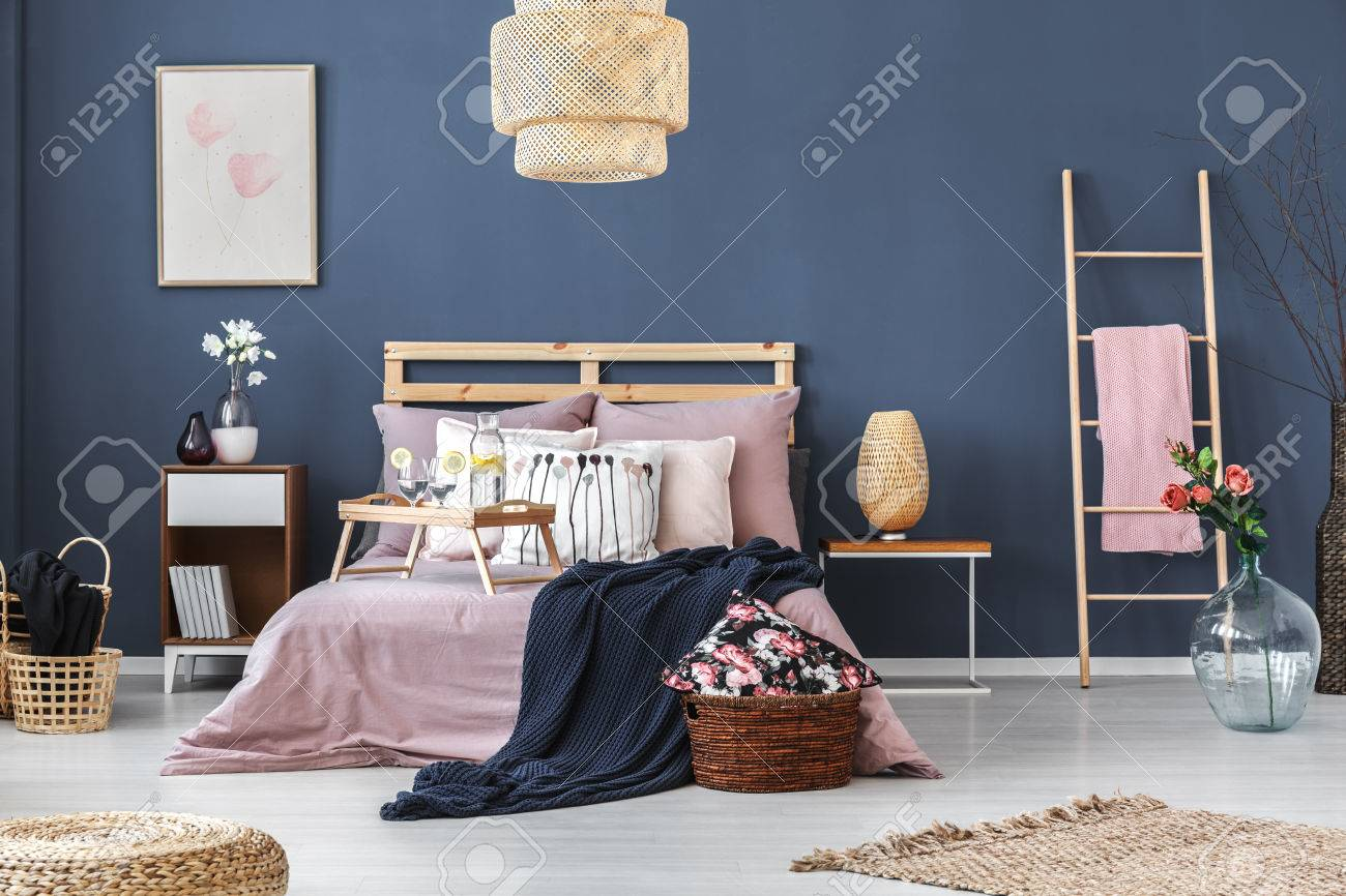 King Size Betten Stock Photo