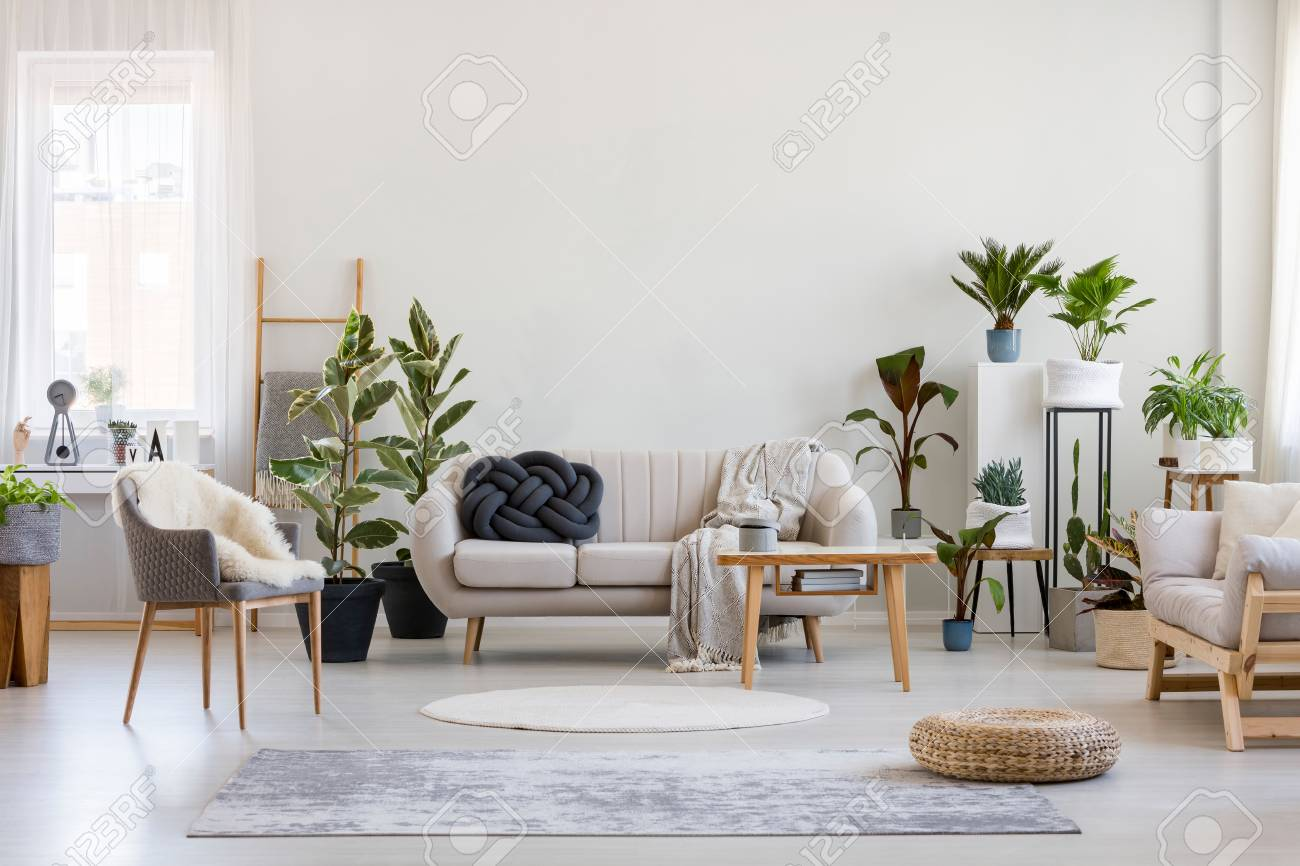 Urban Sofa Nederland Urban Jungle In Bright Living Room Interior With White Couch