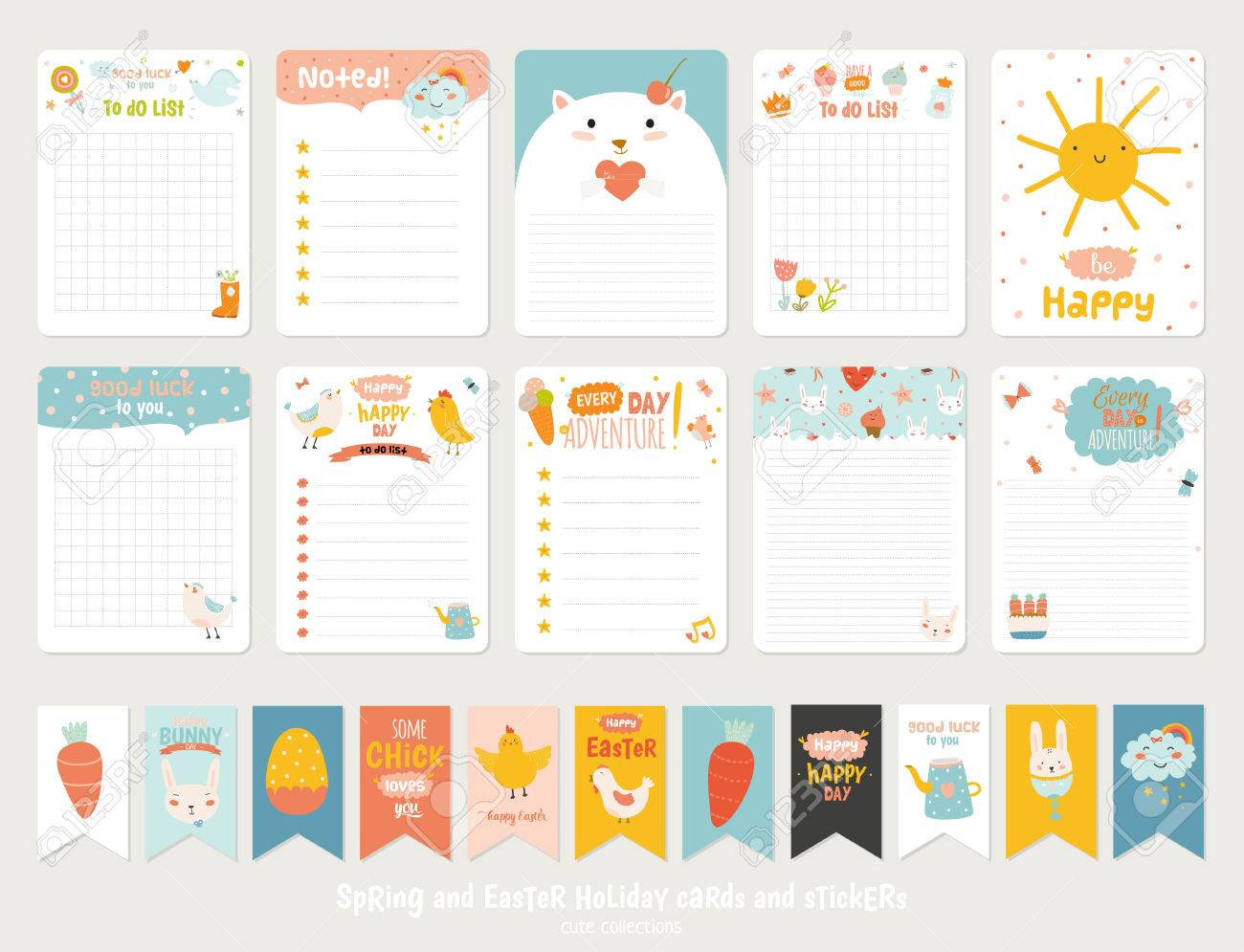 Big W Stickers Big Set Of Romantic And Cute Vector Cards Notes Stickers Labels