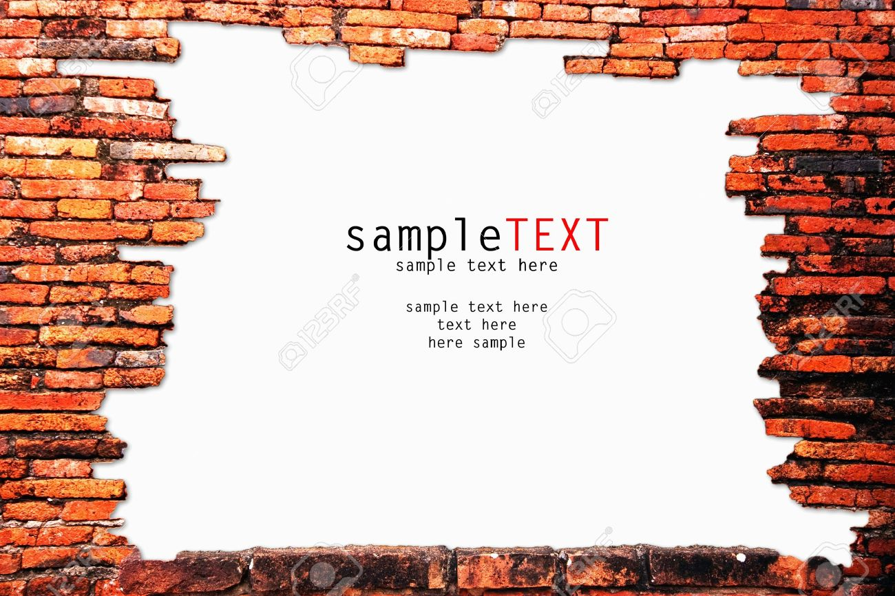 Old brick wall as a frame 01 stock photo image 18377500 - Old Brick Wall As A Frame 01 Stock Photo Image 18377500 Old Brick Wall As