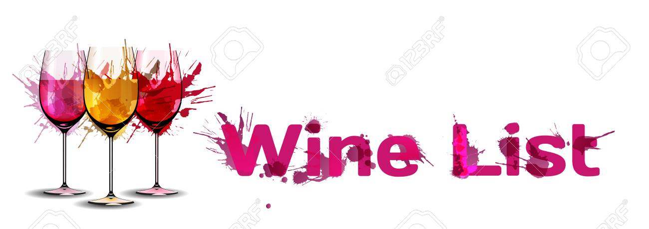 Grunge Wine List Template Royalty Free Cliparts, Vectors, And Stock