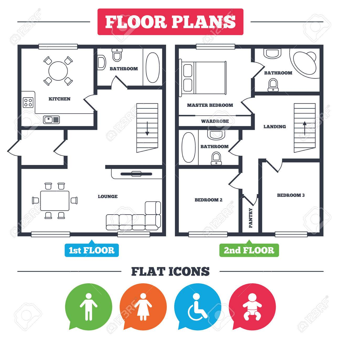 Wc Plan Architecture Plan With Furniture House Floor Plan Wc Toilet