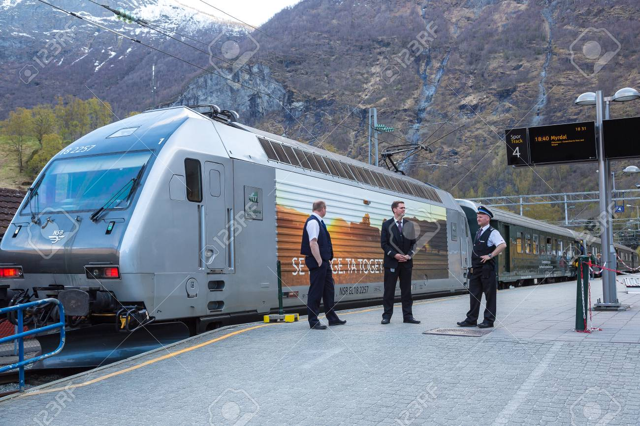 Norway Train Flam Norway May 23 Flamsbana Train At Famous Flam Railway