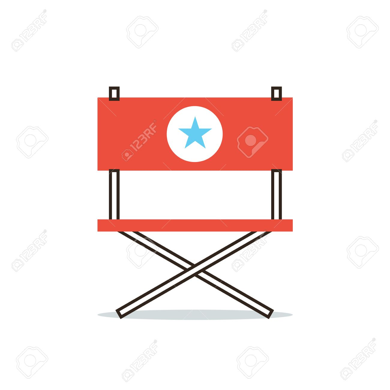Hollywood Sessel Stock Photo