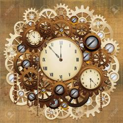 Exciting Gears Stock Photo Steampunk Vintage Style Clocks Steampunk Vintage Style Clocks Gears Stock Steampunk Wall Clock Working Gears Steampunk Wall Clock Kit