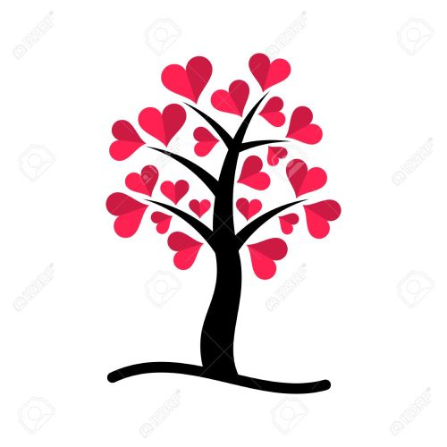 Medium Of Tree With Heart Shaped Leaves