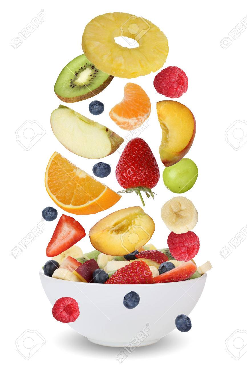 Bowl For Fruit Flying Ingredients For Fruit Salad With Fruits Like Apples Oranges