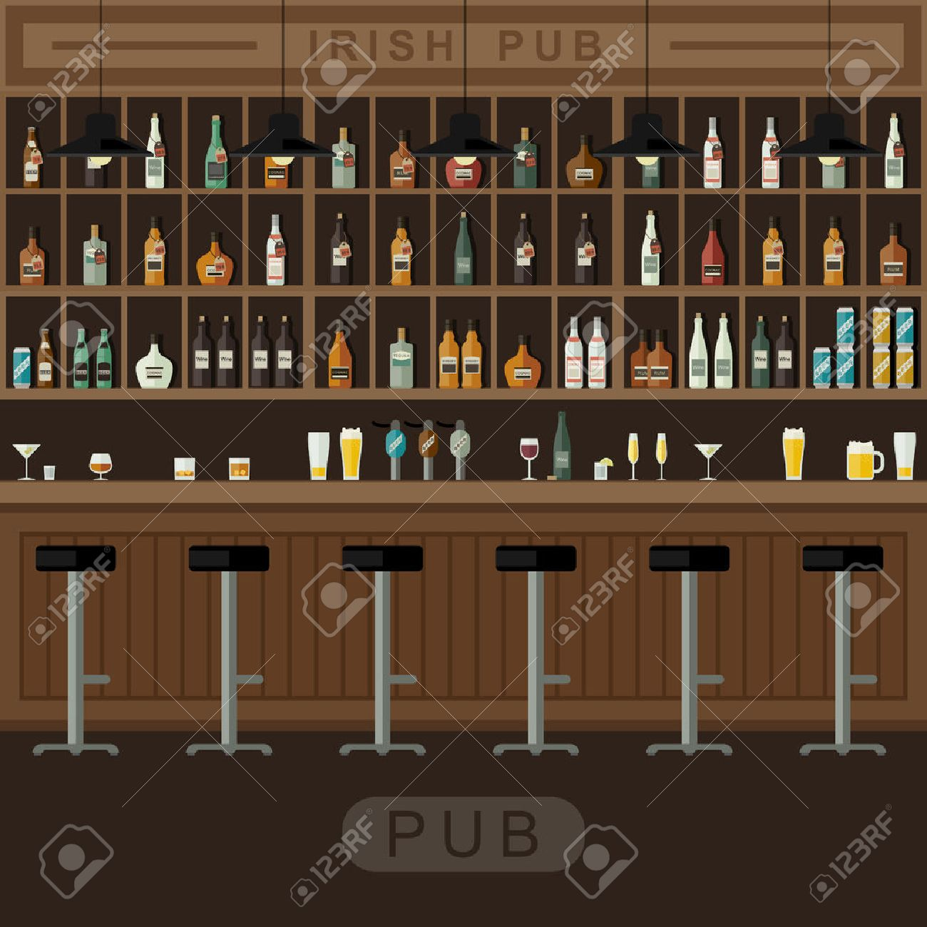 Theke Bar Stock Photo