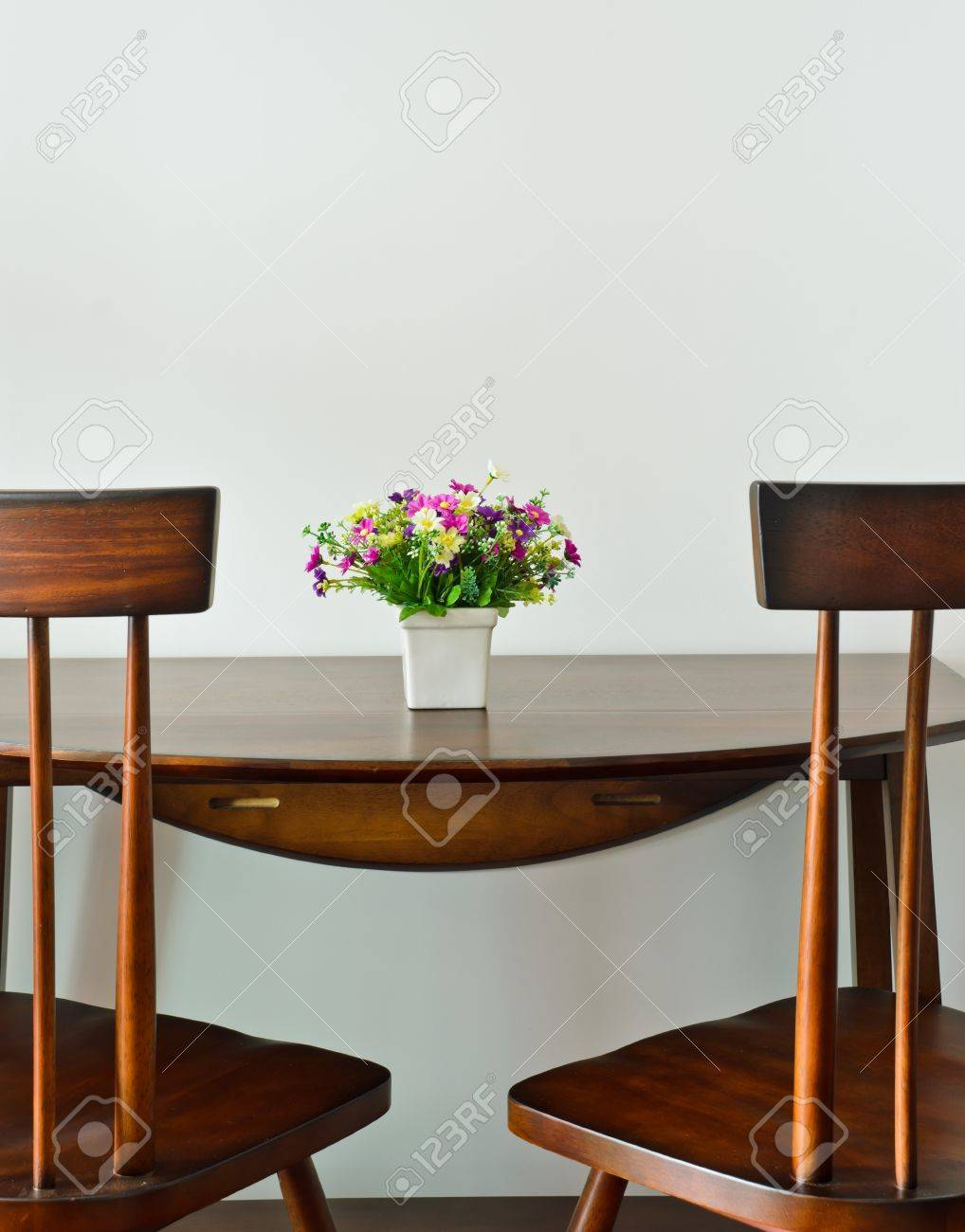 Small Dining Table Small Dining Table With Artificial Flower Pot
