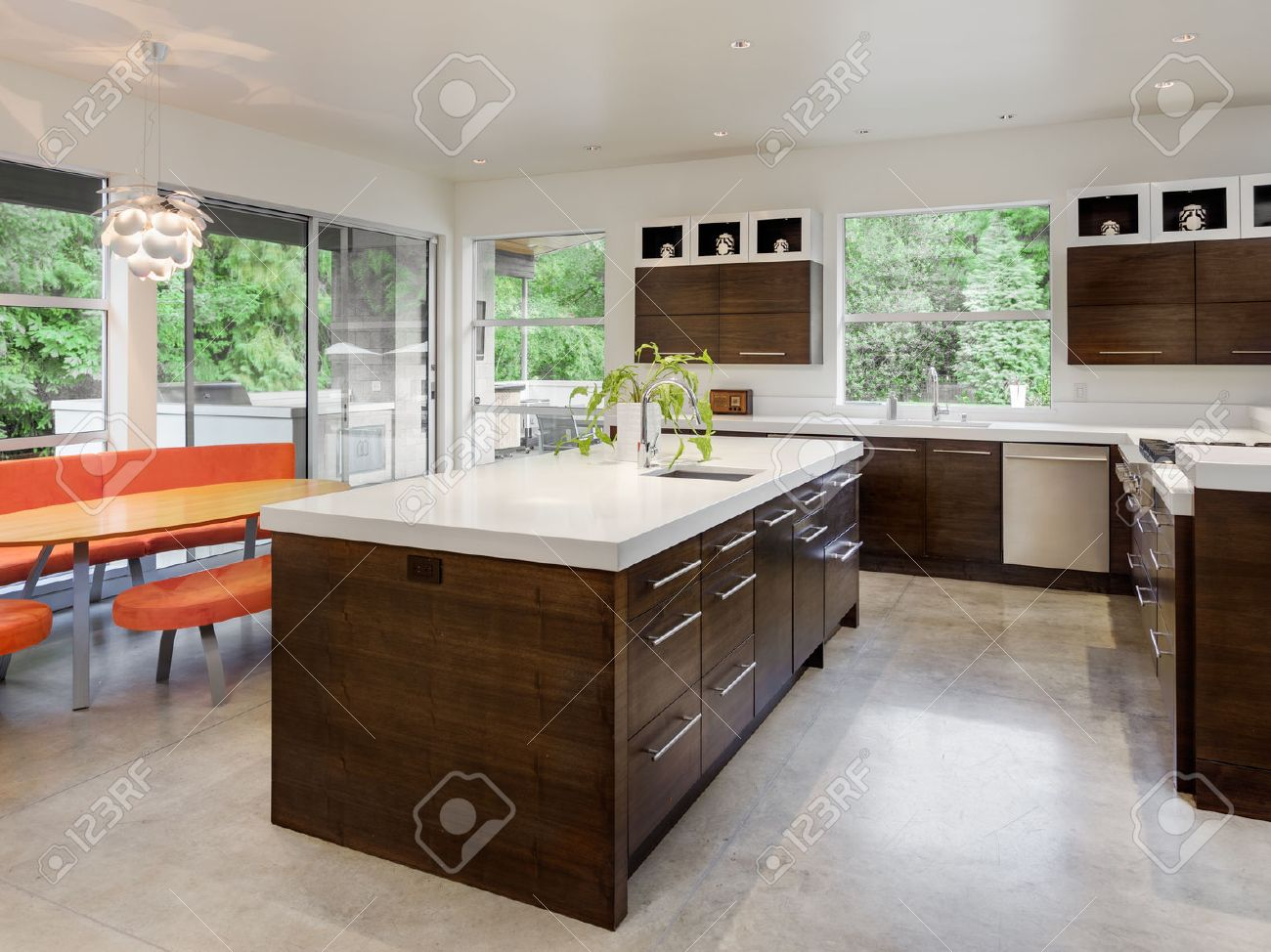 Table Kitchen Kitchen With Island Sink Cabinets And Dining Table In New Luxury