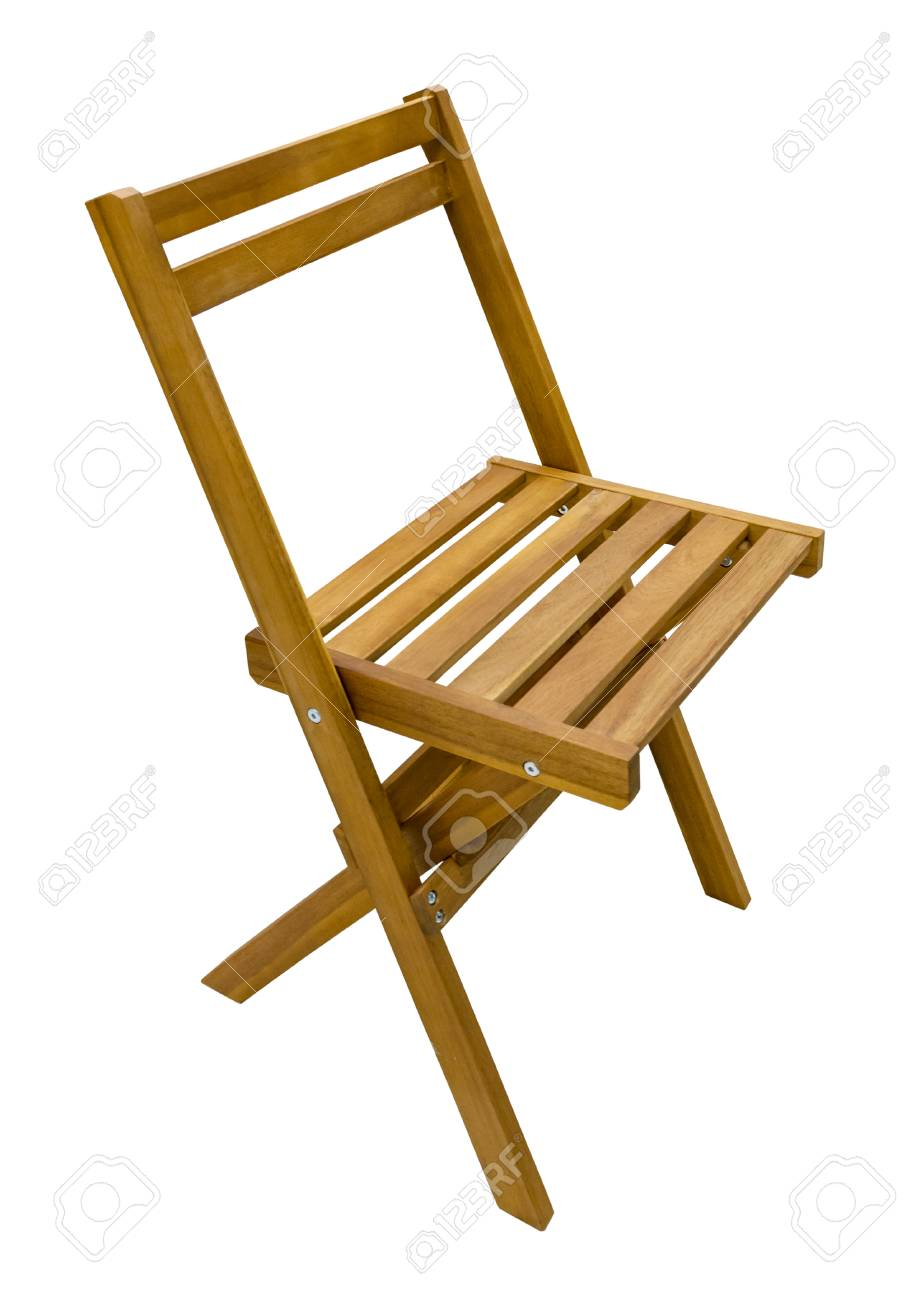 Folding Wooden Chairs Perspective View Of A Brown Folding Wooden Chair Isolated On