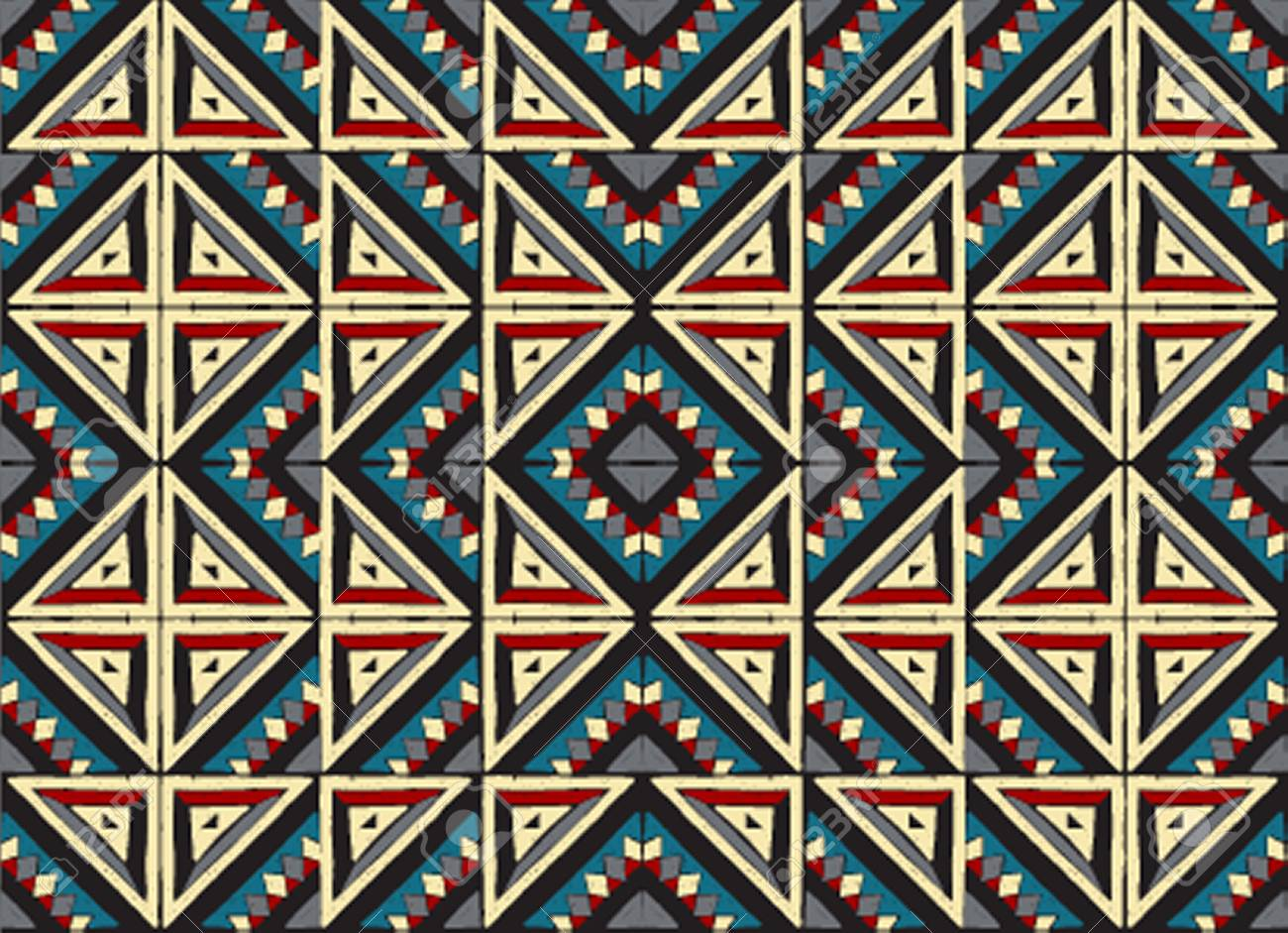 Aztec Tapijt Tribal Vector Ornament Seamless African Pattern Ethnic Carpet