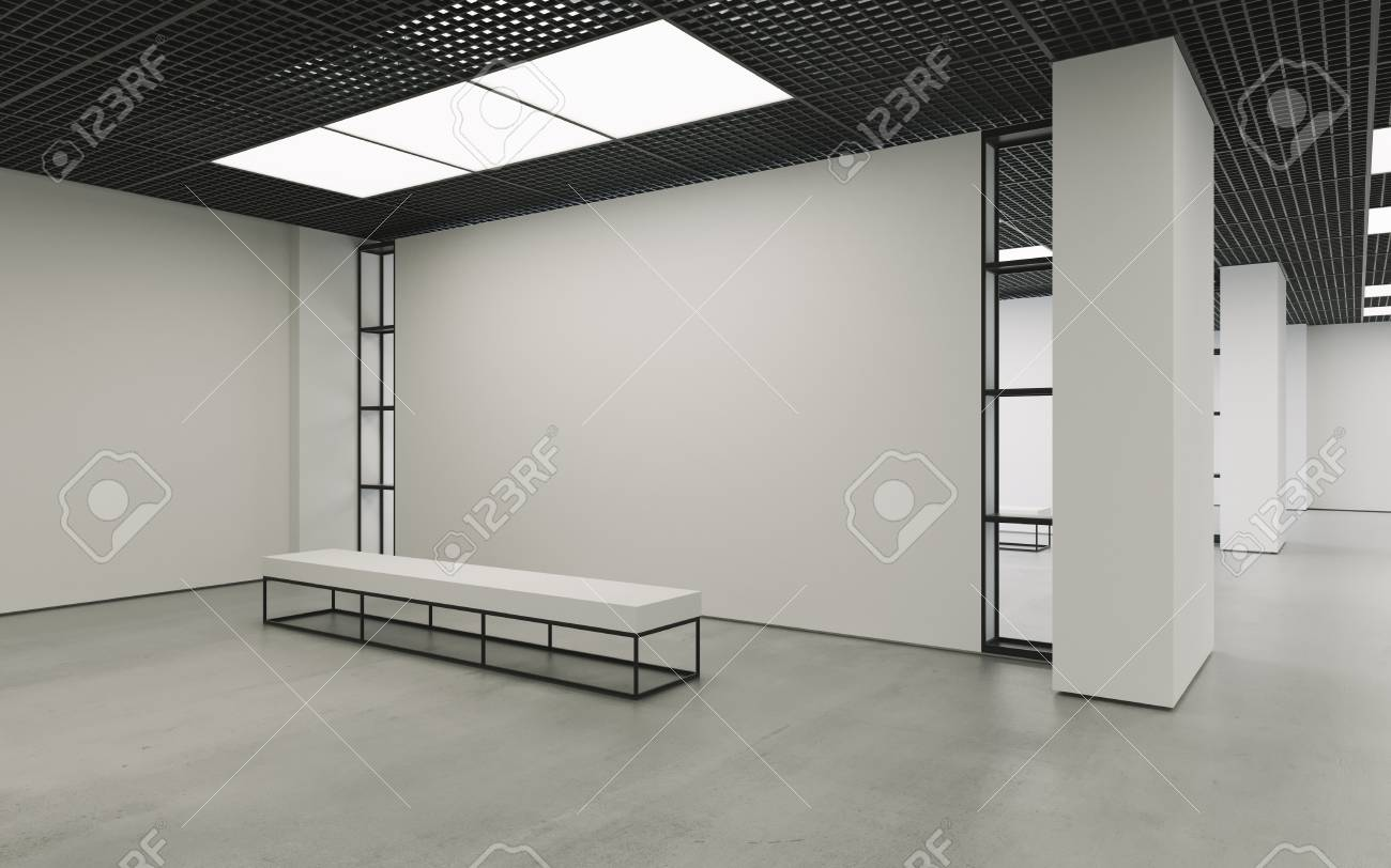 Museum Interieur Modern Empty Minimalistic Interior Of Exhibition With Clean Walls