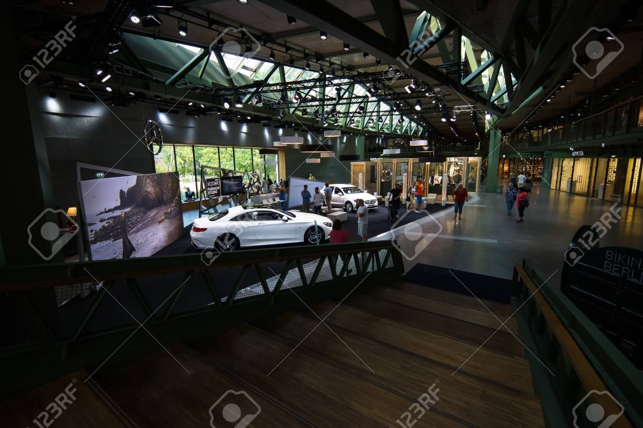 Berlin July 18 2014 Showroom Of Mercedes Benz In The New Stock Photo Picture And Royalty Free Image Image 33139357