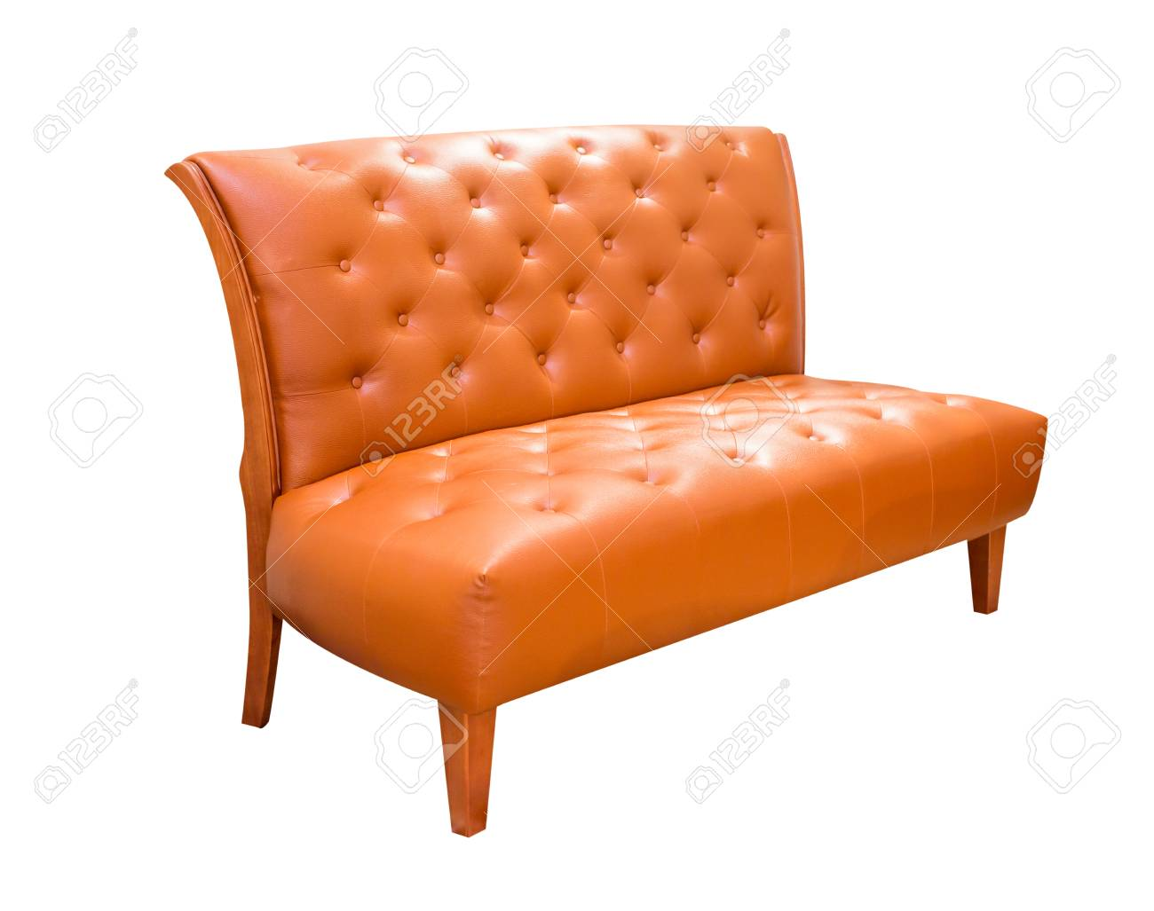 Vintage Ledersofa Stock Photo