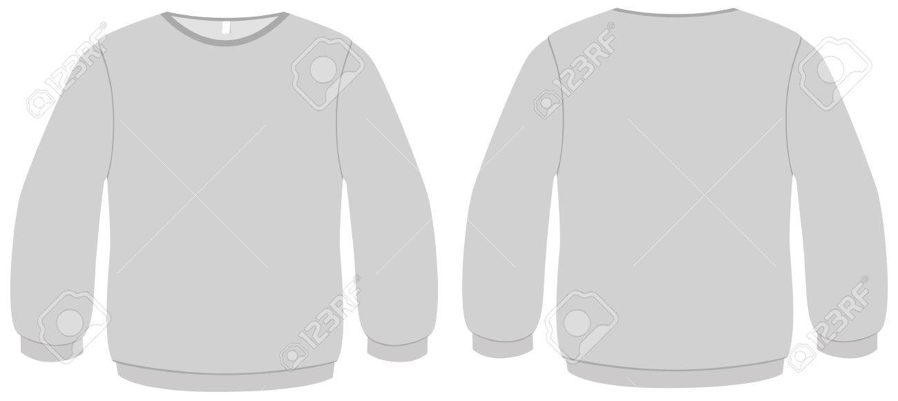 Template Illustration Of A Blank Basic Sweater Royalty Free