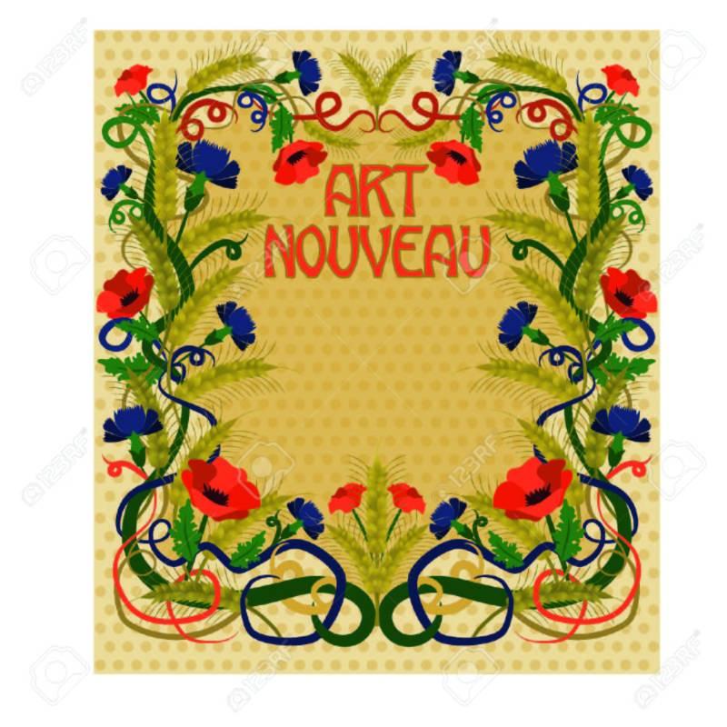 Large Of Art Nouveau Wallpaper