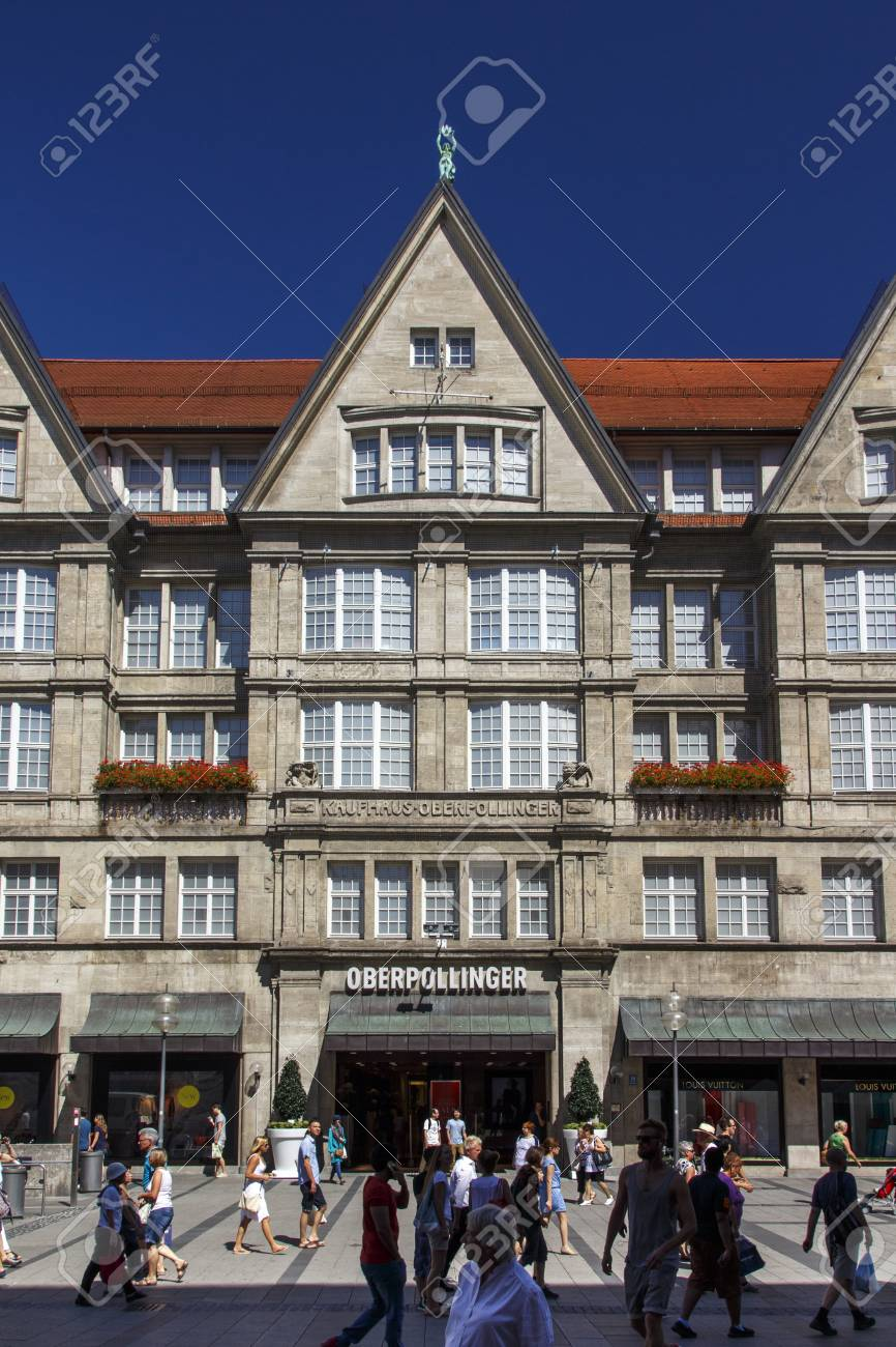 The Oberpollinger Is A Famous Shopping Mall In The Inner City Stock Photo Picture And Royalty Free Image Image 60815811