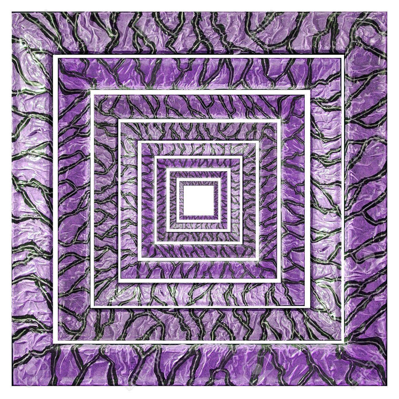 Cornici Concentriche Square Purple Variegated Concentric Frames With Grey Veins