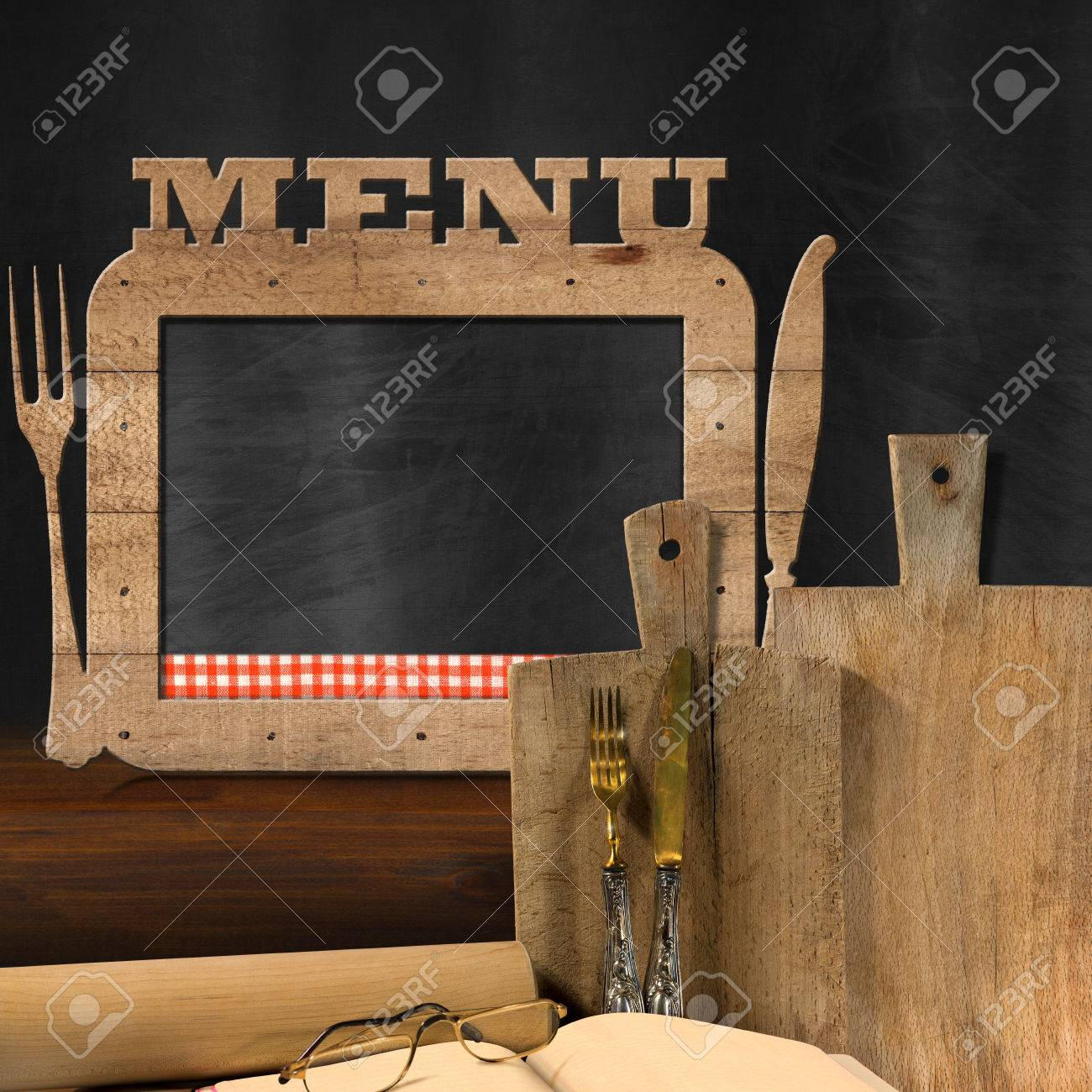 Tafel Küche Stock Photo