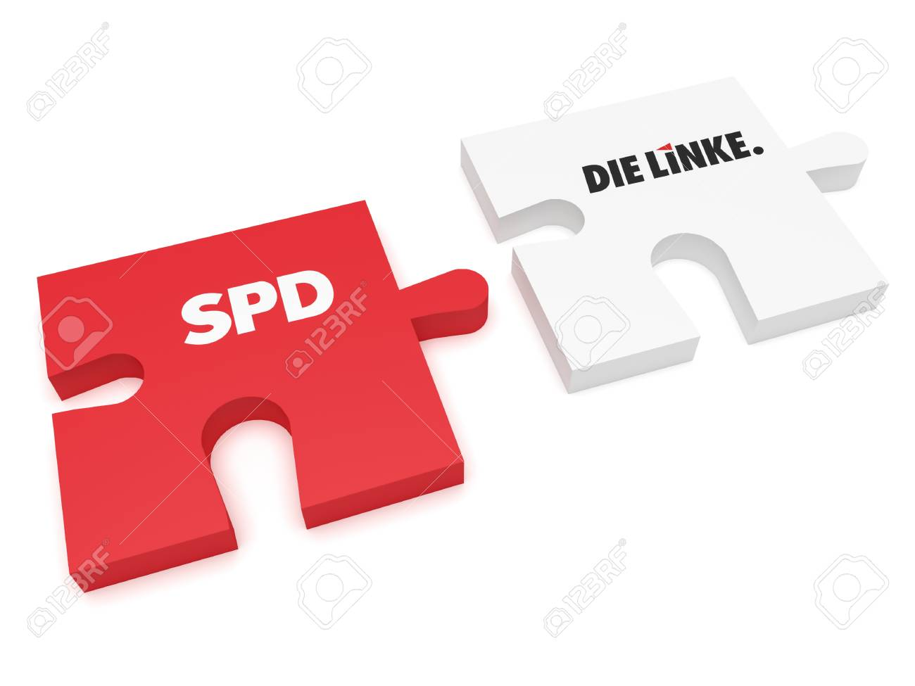Berlin Puzzle Berlin Germany January 30 2017 German Politics Coalition
