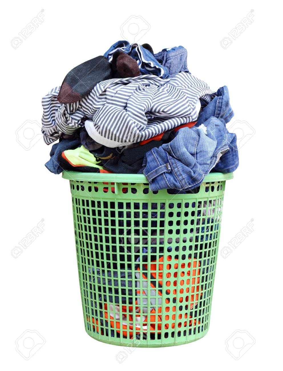 Dirty Laundry Baskets Pile Of Dirty Laundry In A Washing Basket Laundry Basket With