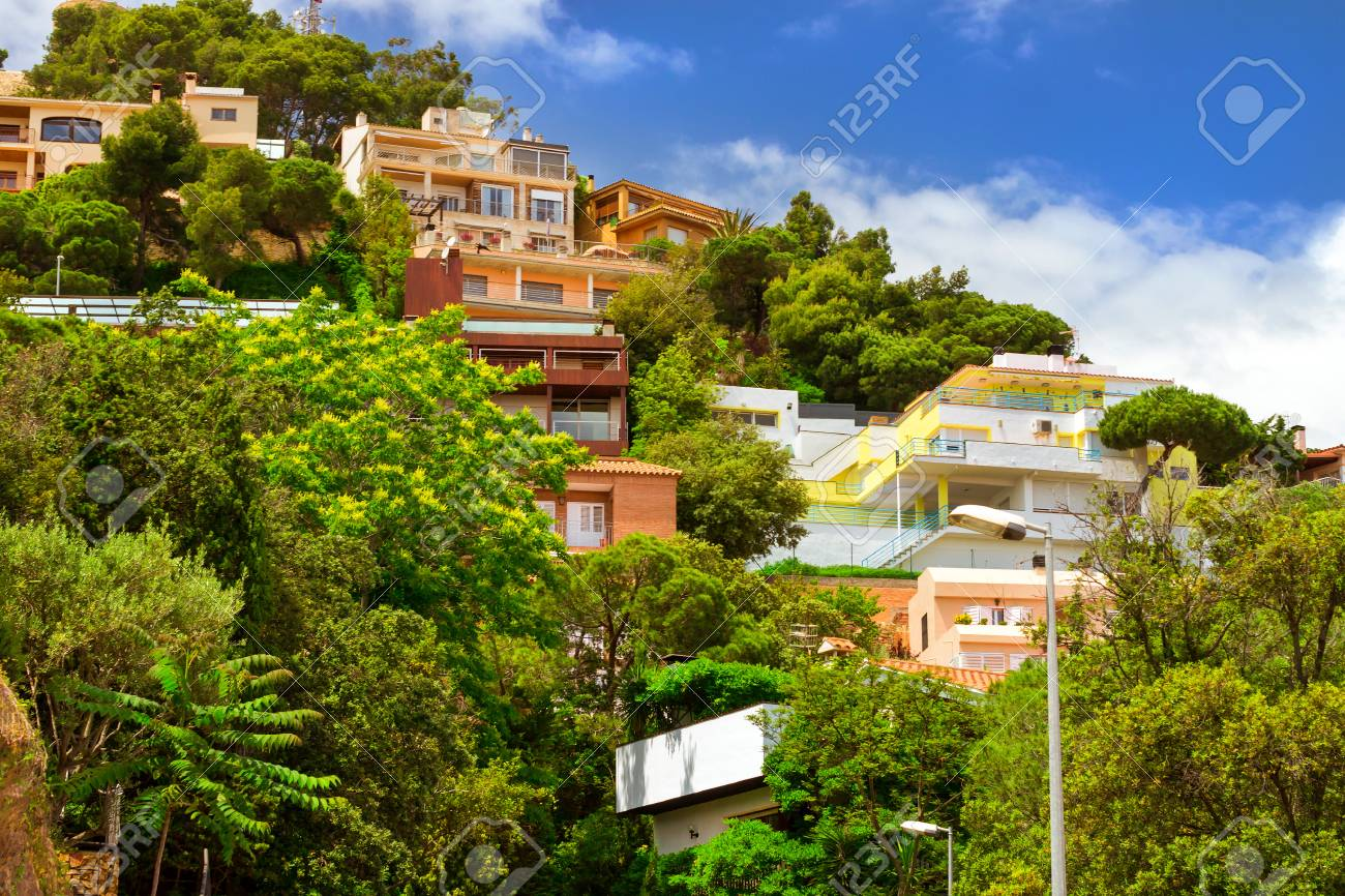 Private Stone Villas And Cottages In A Classic Spanish Resort Stock Photo Picture And Royalty Free Image Image 106161576