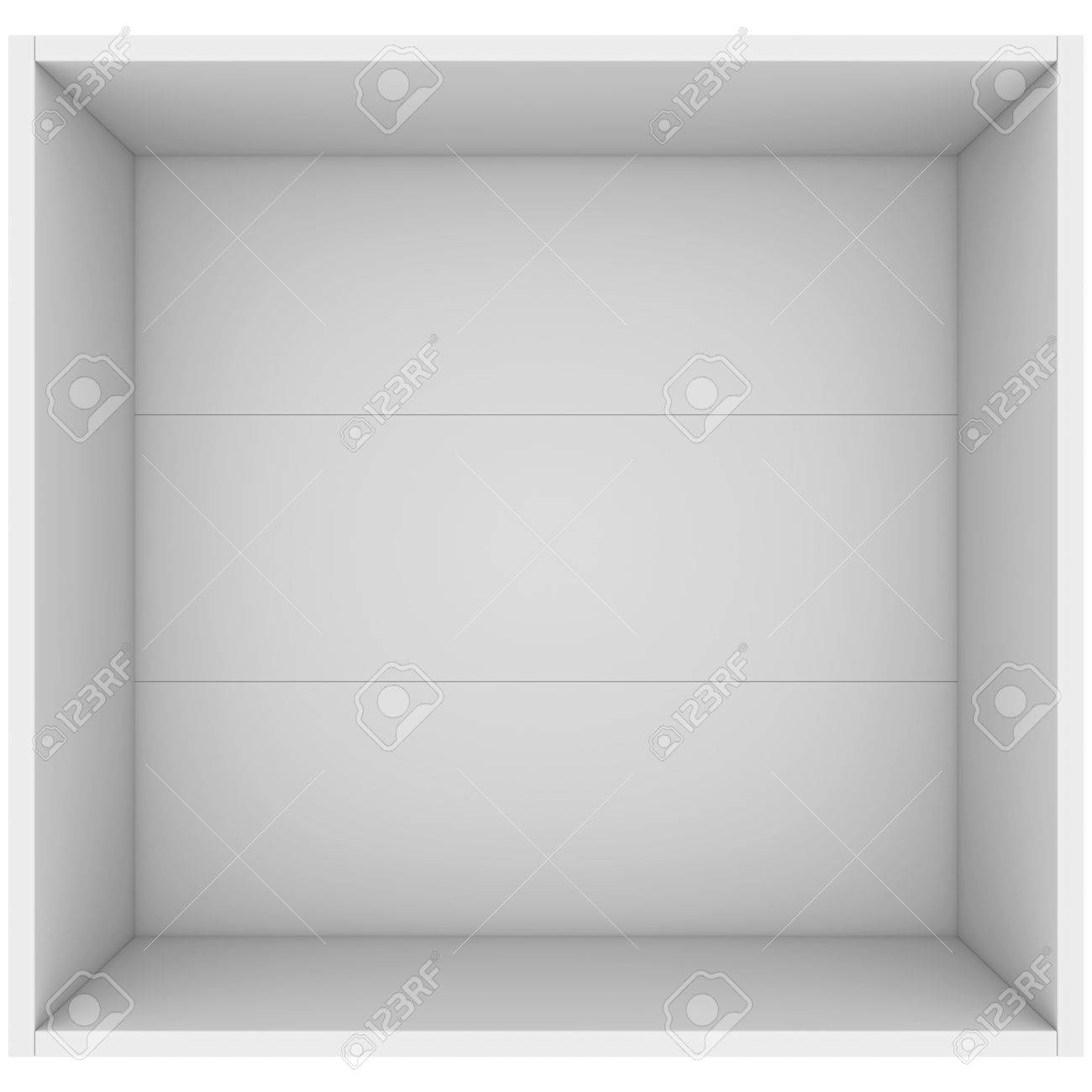 3d Open White Open Box 3d Render Isolated On White Background