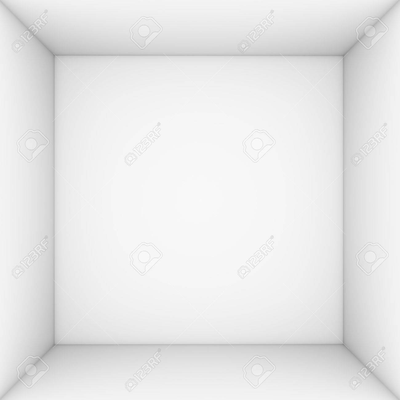 3d Open White Open Box 3d Render Isolated On White