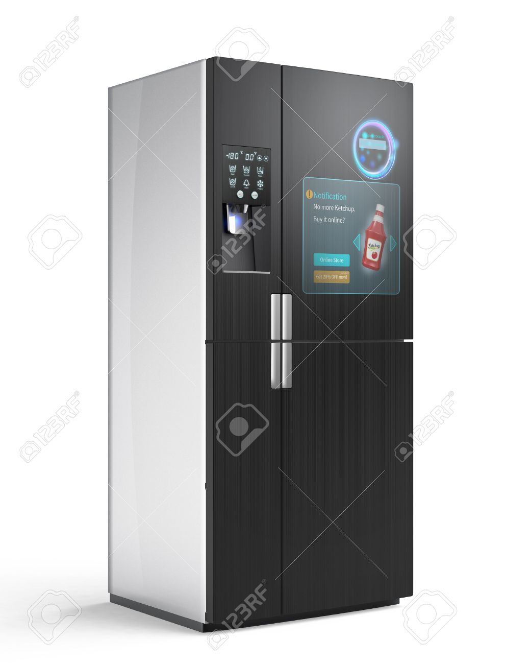 Smart Kühlschrank Stock Photo