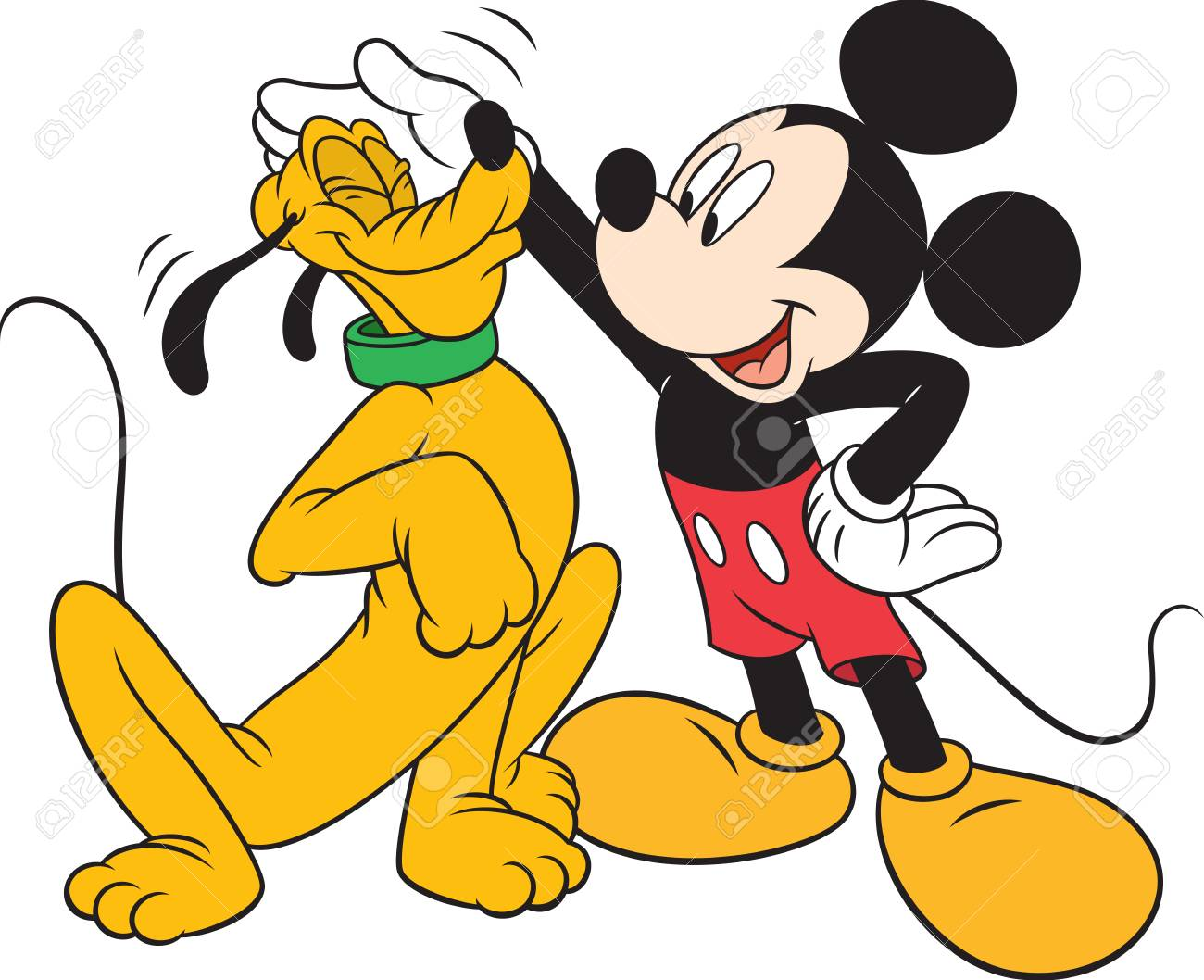 Pluto Mickey Mickey Mouse Affection Love The Dog Pluto Character Cartoon Illustration