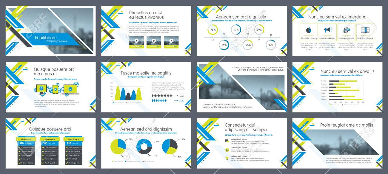 Elements Of Infographics For Presentations Templates Annual - annual report template design