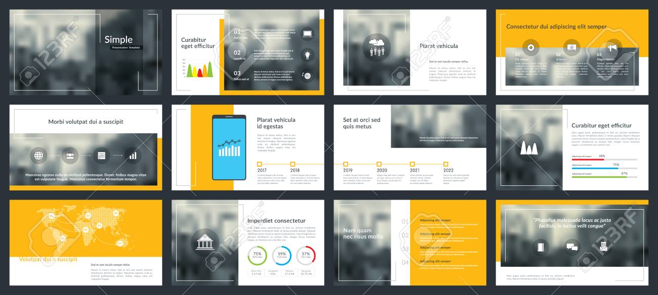 Elements Of Infographics For Presentations Templates Annual
