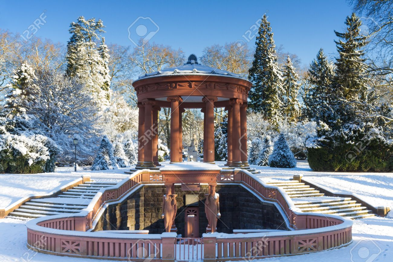 Bad Homburg Elisabethenbrunnen In The Winter Bad Homburg Germany