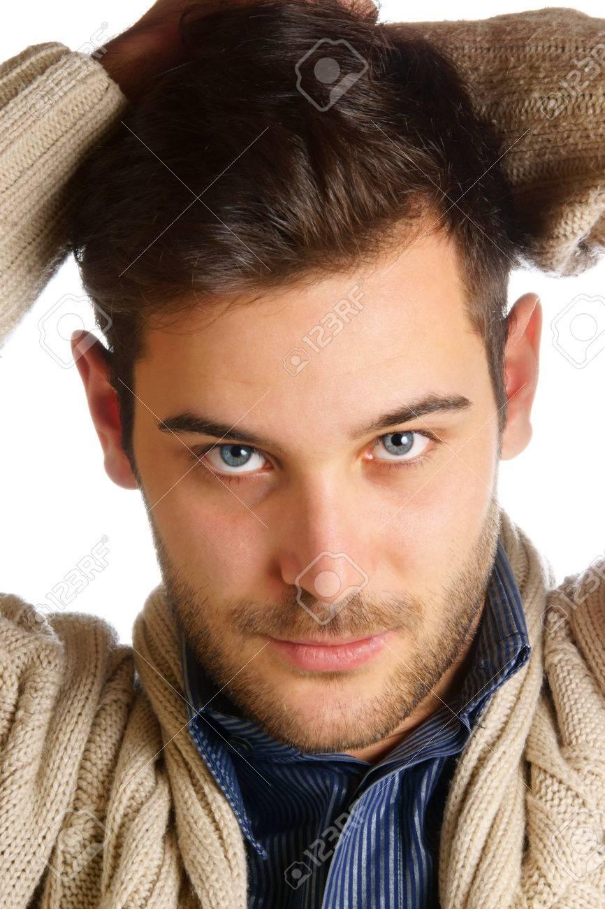 weiblich braune haare und blaue augen
