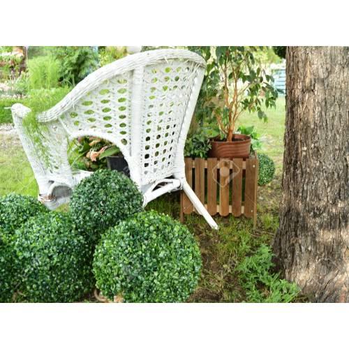 Medium Crop Of White Wicker Chair