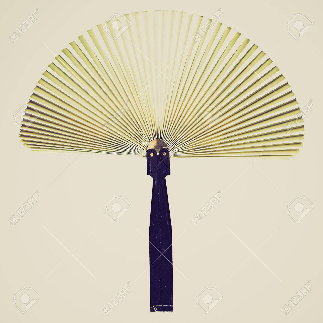 Vintage Looking Fan Vintage Looking Hand Held Fan Used To Induce An Airflow For Cooling
