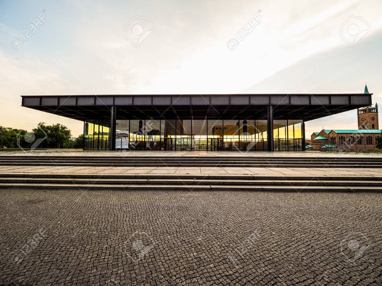 Mies Van Der Rohe Berlin Berlin, Germany - Circa June 2016: Neue Nationalgalerie (meaning.. Stock Photo, Picture And Royalty Free Image. Image 64421873.