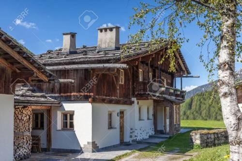 Medium Of Old Farm Houses