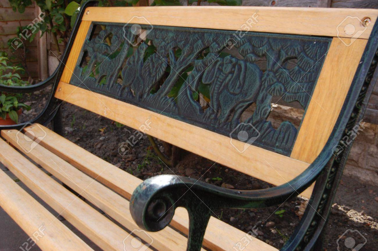 Small Garden Bench A Kids Small Garden Bench Made Of Wood And Iron