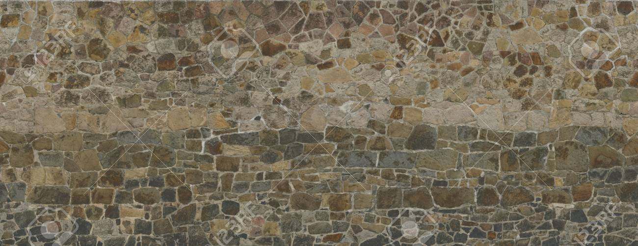 Texture Of An Old Stone Wall Red-brown Shades Old Castle Stone