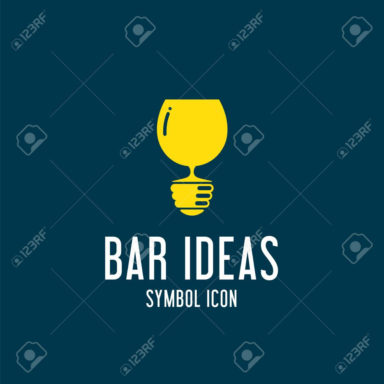 Bar Ideen Bar Ideeën Vector Concept Symbol Icon Of Logo Template