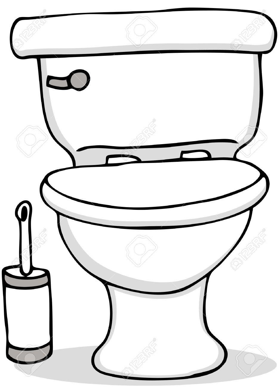 Bathroom clipart black and white - Download