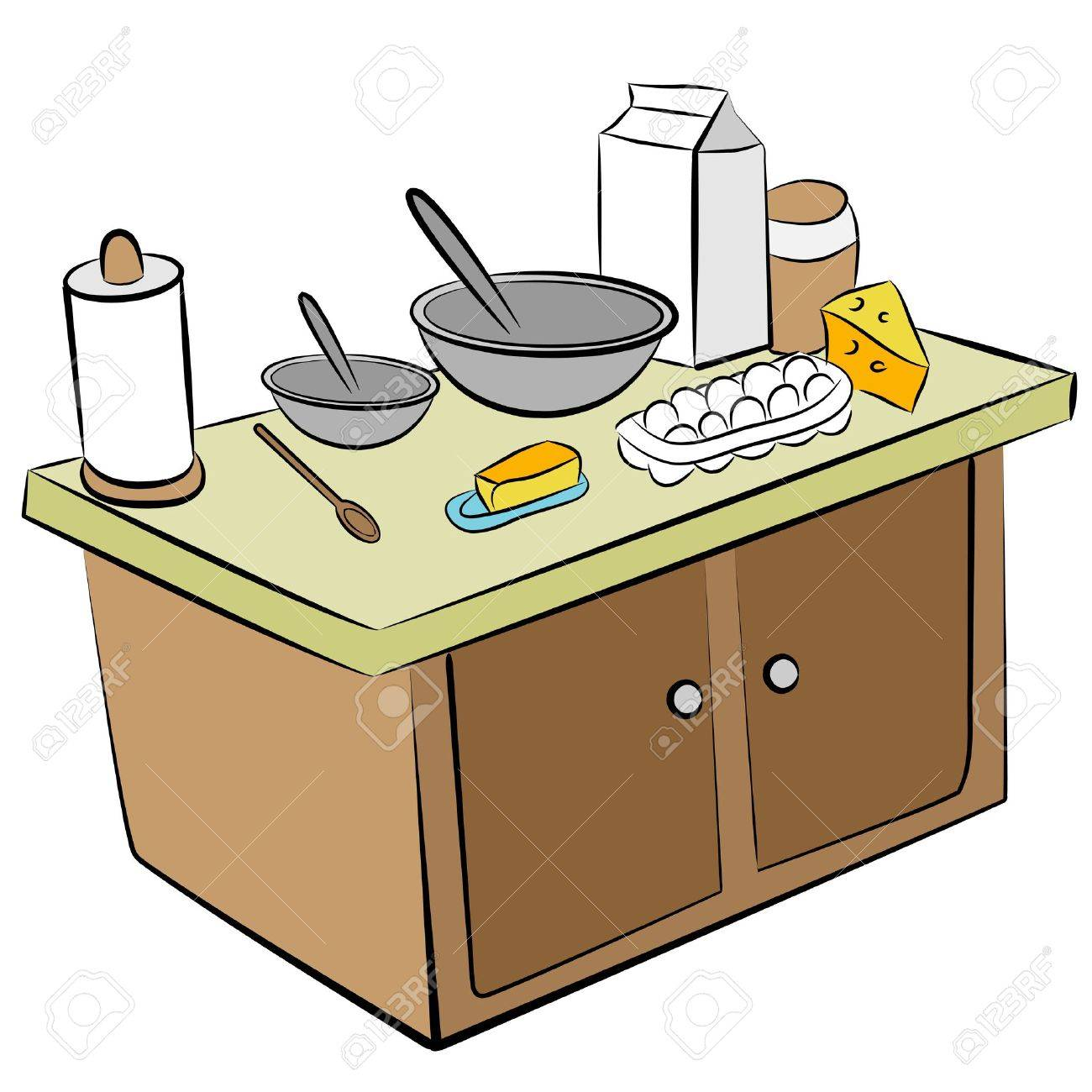 Cartoon kitchen counter gallery - Download