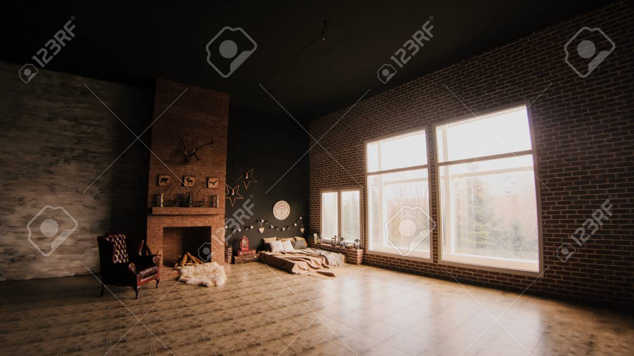 Wohnzimmer Retro Stock Photo