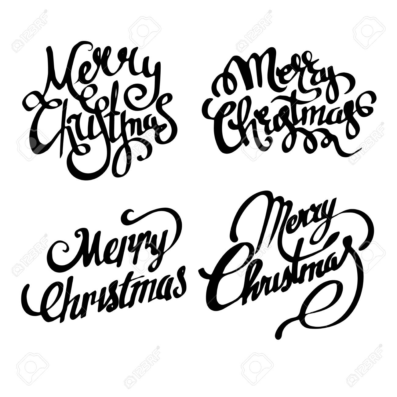 Calligraphy Fonts W Christmas Banners Merry Christmas Handwritten Calligraphy Font