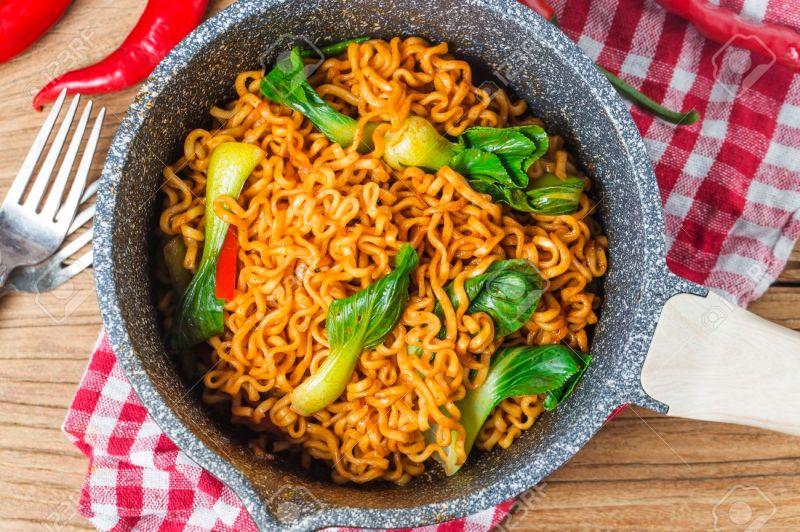 Large Of Korean Instant Noodles